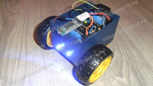 Машина с блютуз управлением на Ардуино УНО
