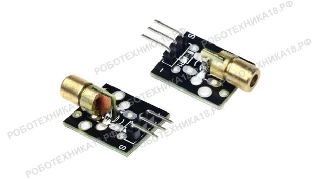 Модуль KY-008 3pin 650nm: красный лазерный передатчик