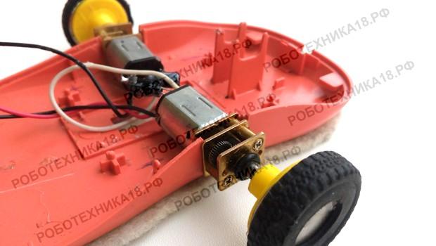 Установка моторов для машинки из пк мышки