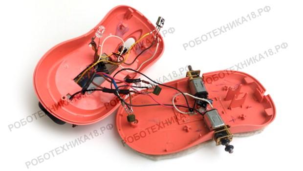 Сборка электрической схемы машинки из мышки