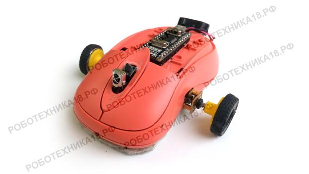 Машинка из лазерной компьютерной мыши