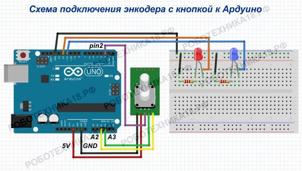 Как подключить энкодер с кнопкой