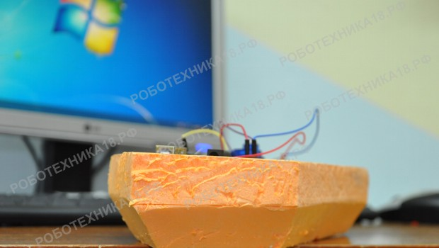 Фото. Лодка с ИК управлением на Arduino UNO