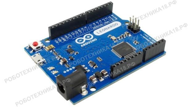 Плата Arduino Leonardo ATmega32u4: распиновка, схема